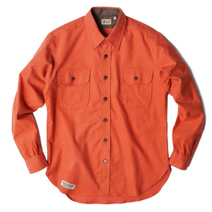 "Wood Shirt ""Orange cotton Flannel"""