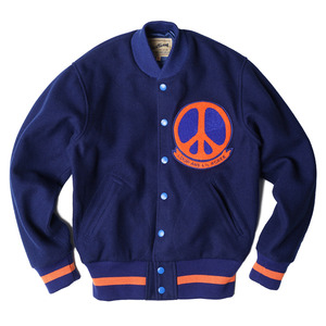 "Wood Wool Varsity ""Blue heavy wool tweed"""