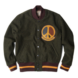 "Wood Wool Varsity ""Brown heavy wool tweed"""