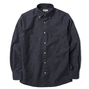 "BANTS Jazznep Oxford Medium Spread Collar Shirt ""Navy"""