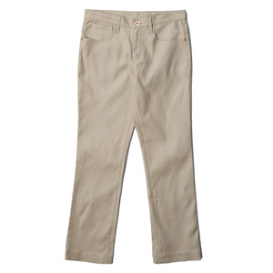 "OOPARTS Straight-Cut Oxford Dyed Jeans ""Beige"""