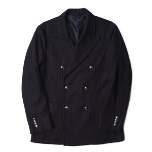 "BANTS Wool Flannel Stripe Double Breasted Jacket ""Navy"""