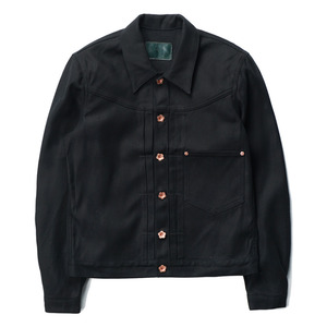 "OOPARTS Oxford Dyed Trucker Jacket ""Black"""