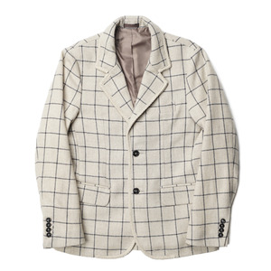 "BANTS Tweed Wool Check Single Jacket ""Beige"""