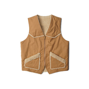 "Teddy / Duck Vest - Reversible ""Tabacco"""