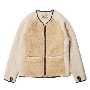 "Grizzly/Teddy Cardigan ""Oatmeal and Beige"""