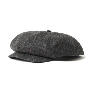 "Gooseberry Lay & Co. 20's News Boy Cap ""Check Herringbone Tweed"""