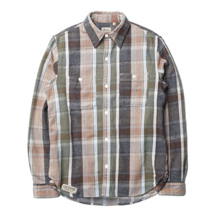 "Gooseberry Lay & Co. Pete Outdoors Men's Heavy Twill Shirts ""Green Vertical Stripe"""