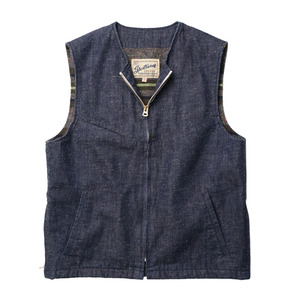 "Gooseberry Lay & Co. Woody Vest Denim Blanket Lined ""Nep Denim"""