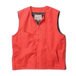 "Gooseberry Lay & Co. Woody Vest Canvas Cotton Duck / Blanket Lined ""Orange"""