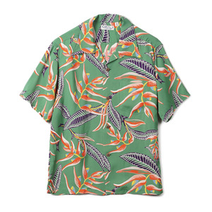 "SS37463 Hanging Heliconia Rayon S/S Shirt ""145 Green"""