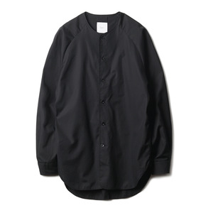 "OPT17SSSH02WT Tarifa Collarless Raglan Shirt ""Black"""