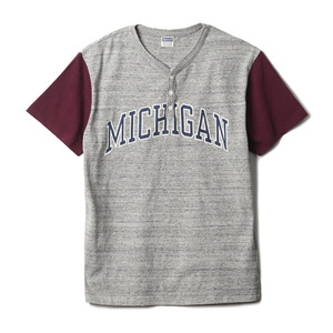 "CH77657 Michigan Henley Neck Tee ""113 H.Grey"""