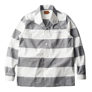 "OOPARTS OPT16SSSH01 Pajama Shirts ""Charcoal"""