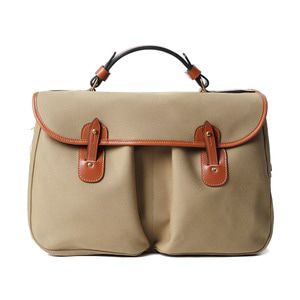 "BRADY BAGS MONMOUTH Traditional English Office Bag ""Khaki"""