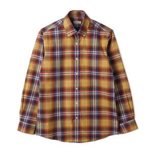 "BANTS TJA Check Flannel B.D Shirt ""Orange"""