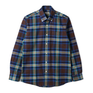 "BANTS TJA Check Flannel B.D Shirt ""Brown"""