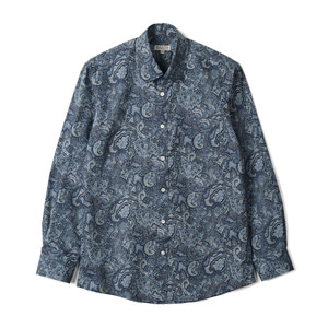 "BANTS TJA Paisley Cotton Shirt ""Blue"""