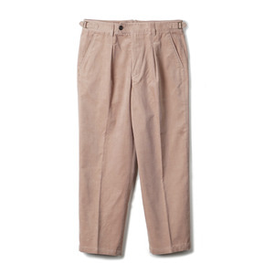 "BANTS TJA Corduroy One-tuck Pants ""Rosybrown"""