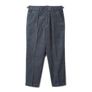 "BANTS TJA Corduroy One-tuck Pants ""Bluegrey"""
