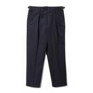 "BANTS TJA Corduroy One-tuck Pants ""Navy"""