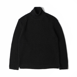 "10th Anniversary Waffle Turtleneck Sweater ""Black"""