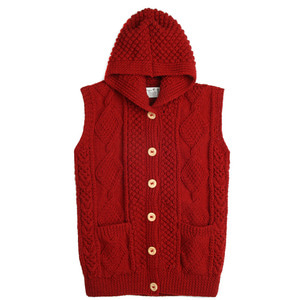 ATHENA DESIGNS Hood Vest Red