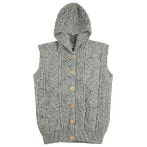ATHENA DESIGNS Hood Vest Grey Mix