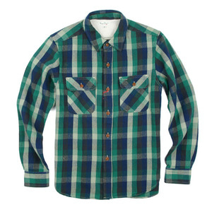 "BURGUS PLUS BP14502 Original Flannel Check Shirt ""Blue"""