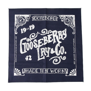 "Gooseberry Lay & Co. Bandana ""Navy"""