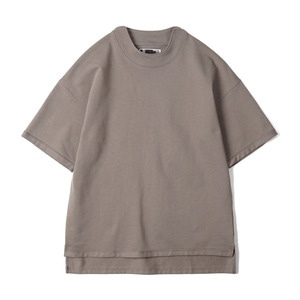 "OOPARTS OPT18SSTP06GY High Neck Detail T-Shirt ""Grey"""