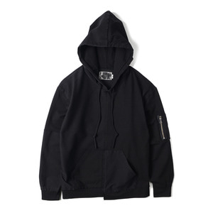 "OOPARTS OPT18SSTP03BK Washed Geometric Long Sleeve Hoodie ""Black"""