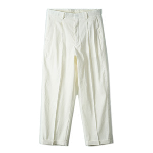 "OOPARTS OPT18SSPT02WH Two Pleat Classic Pants ""White"""
