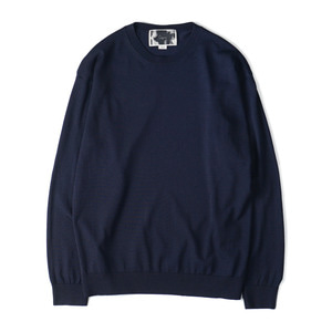 "OOPARTS OPT18SSTP05NV R/N Blend Crewneck Sweater ""Navy"""