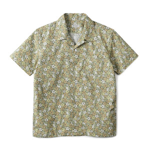 "BANTS GTB Aloha Cotton Open Collar Shirt Half ""Green"""