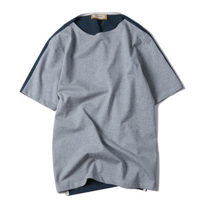 "SHIRTER Jersey Mix Shirt ""Grey / Smokey Blue"""