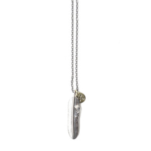 ATEASE Small Feather 2 Set Necklace Sliver