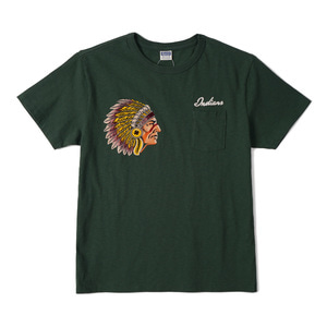 "CHESWICK Indians Flocky Printed S/S T-Shirt ""D.Green"""