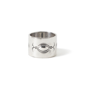 NORTH WORKS 900 Silver Stamp Ring W-019