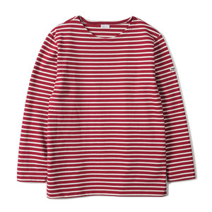 "NOCLAIM Boat-neck Basque Shirt ""Red x Ivory"""