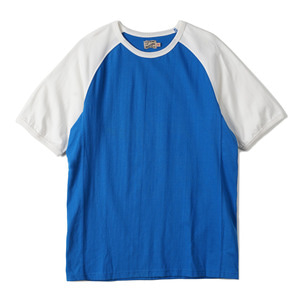 "Gooseberry Lay & Co. Two-Tone Raglan Combos Rag Tee ""Blue/Offwhite"""