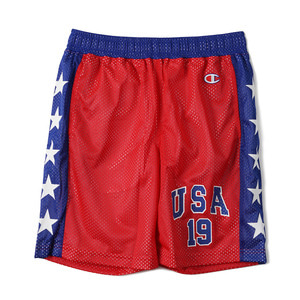 "CHAMPION Action Style Hockey Mesh Short Pants C3-F521 ""Red (940)"