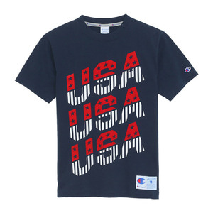"CHAMPION Action Style USA T-Shirts C3-H370 ""Navy(370)"""