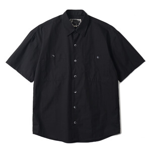 "OOPARTS OPT18SSSH06BK Rain Slab Short Sleeve Shirt ""Black"""