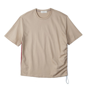 "SHIRTER Side Line String T-shirt ""Beige"""