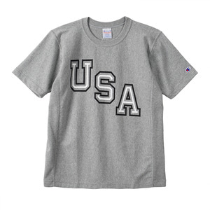 "CHAMPION Reverse Weave USA T-Shirts C3-F305 ""Grey (070)"""