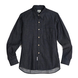 "BURGUS PLUS Lot.303 Denim Oxford Buttondown Shirt ""Indigo"""