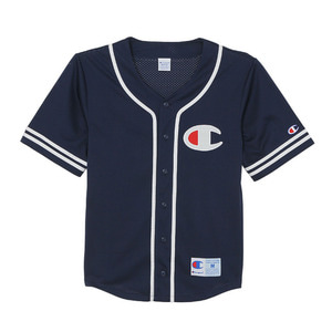 "CHAMPION Action Style Baseball Shirts C3-H365 ""Navy(370)"""