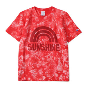 "CHAMPION Reverse Weave Dyeing T-Shirts C3-F306 ""Red (970)"""