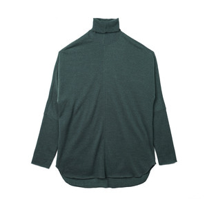 "OOPARTS OPT18FWTS03GR Roll-neck knit sweater ""Green"""